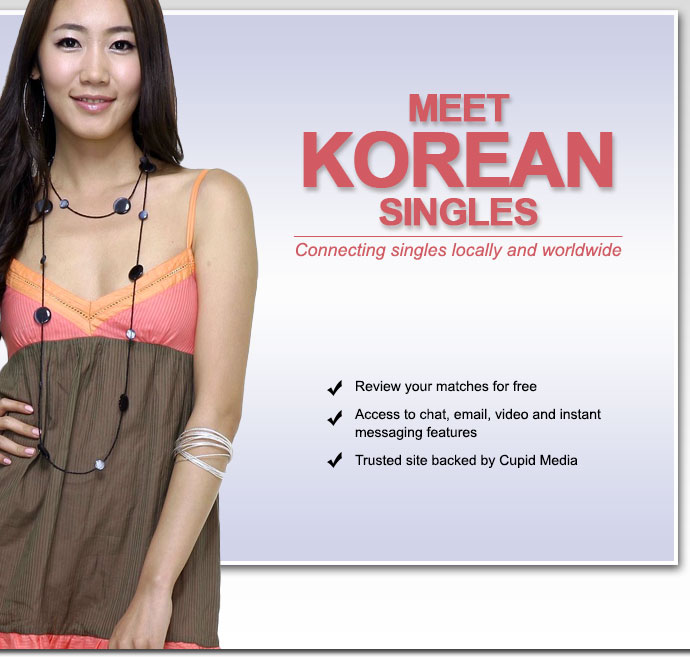 Korean dating, personals and singles